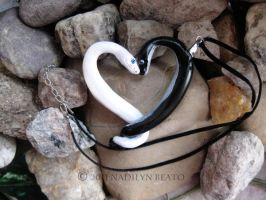 Super Black Pastel and Blue Eyed Leucistic Heart by NadilynBeato