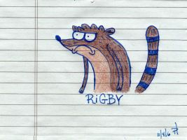 My First Rigby Drawing by doodlemonster3000