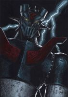 z mazinger on black by LucaStrati