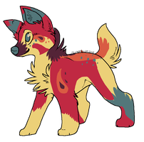 ::Canine Adoptable 6:: by ColorfulPotatoAdopts