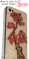 iPhone 4S SDCustom Pyrograph (Wood burned) Cover by snazzie-designz