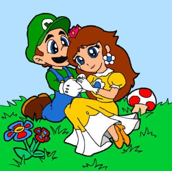 Luigi and Daisy by Mary1517 by Luigi-Daisy-Club