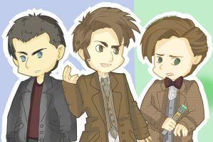 the three doctors by SoulFishie