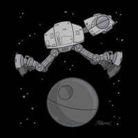 AT-AT jumped over Death Star by fizzgig