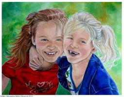 Girls Portrait canvas  40x50 by Hollow-Moon-Art