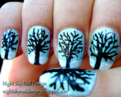 Winter Trees by nightskynaildesign