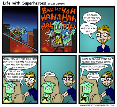 Life with Superheroes #21 by ZacAvalanche