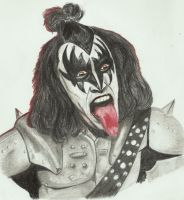 Kiss Gene Simmons by PIERNODOYUNA