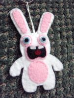 Rabbid Felt Key Chain by Geisha-Neko