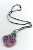 Traditional Rose Necklace by bataleigh