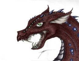 Black Scaled Dragon - Coloured by Draconic-Goth