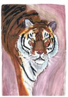 Tiger painting by ConkerTSquirrel
