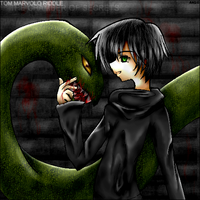 Tom Riddle and the Basilisk by angiechow