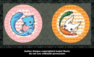 button set : little animals by tikopets