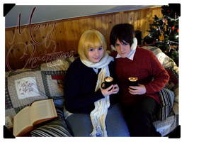 Holiday greetings from Eren and Armin by Millahwood