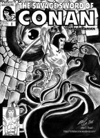 The Savage Sword of Conan - Cover by EttoBascianoWorks