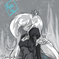 2017-02-16 Daily Doodle Adventure Time - Ice Queen by CrystalC33