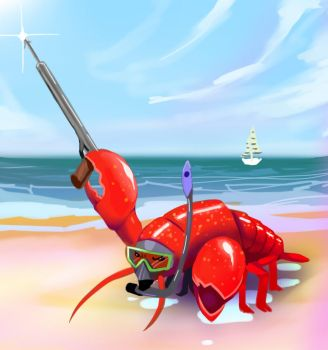 Angry lil lobster by Stealthies