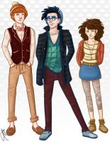 Hipster Potter and Friends by blindbandit5