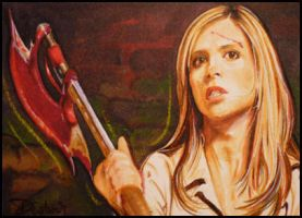 Buffy with Scythe by DavidDeb