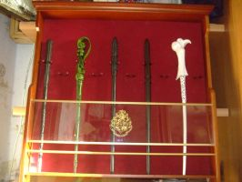 My collection wands from Harry Potter by Matsu-Sotome