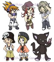 CHIBIS:The World Ends with You by bunnychan
