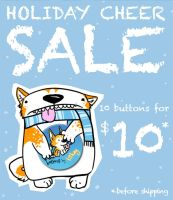 2011 Holiday Cheer BUTTON SALE by tiikay