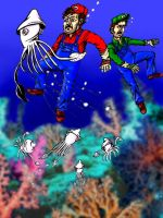 Bloopers underwater by IronOutlaw56