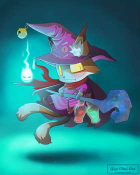 Cat Mage by gigichui