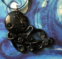 Black Starry Octopus Charm by BlackMagdalena