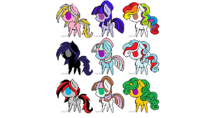 Free mlp adopts CLOSED! by kittyluvcupcake