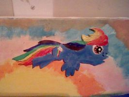 Re-purposed Art 2 Rainboiw Dash Canvas by SpaceRanger108