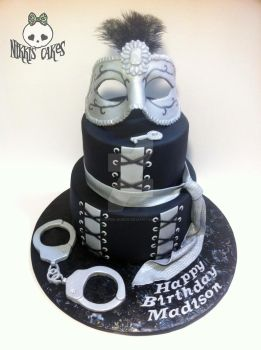 50 Shades of Grey Cake by Corpse-Queen