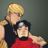 Wiccan and Hulkling by Sabrea