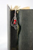 Red Butterfly Wing Bookmark by michelleaudette