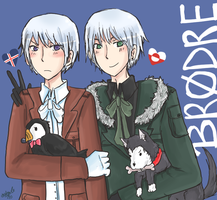 APH - Brothers by DinoTurtle