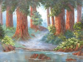 The Redwood Forest by iBreedAuzzies