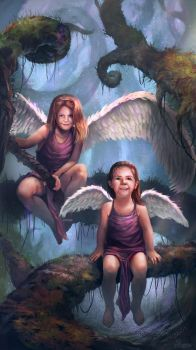 My 2 angels by PhanouArt