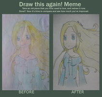 meme drawing before and after by Mai-ChanL