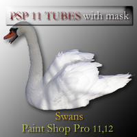 psp 11 swan tubes with mask by feniksas4