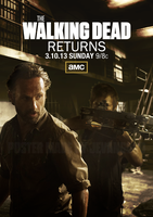 The Walking Dead Season 3 Mid Season Poster by jevangood