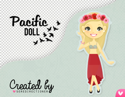 Pacific doll (PSD y PNG) by seredirectioner