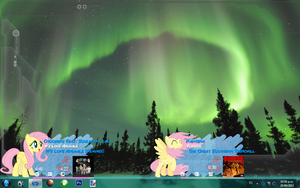 Fluttershy Style iTunes Player by Lktronikamui