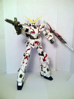MG Unicorn Gundam (Destroy Mode) by Draw-Over