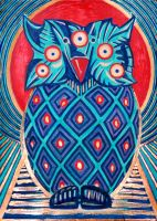 Spychedelic Totem Owl by BrokenShell121