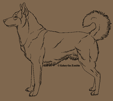 Realistic Husky Lineart by Anti-Dark-Heart