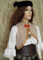 Steampunk-military inspired bolero PCCB2-6 by JanuaryGuest