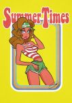Summer Times 1979 Cartoon Pinup T-shirt by LaserDatsun