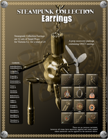 Steampunk Earrings Promo 1 by inception8