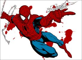 Spider-Man Pose - Colored Version by Roach97